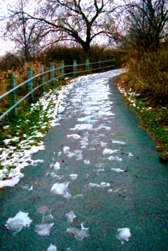 The icy trail of doom!