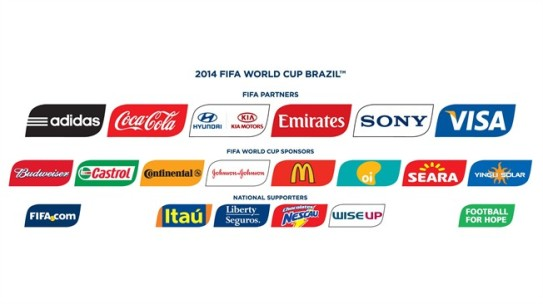 Sponsors of the 2014 World Cup