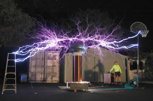 Tesla coil in action
