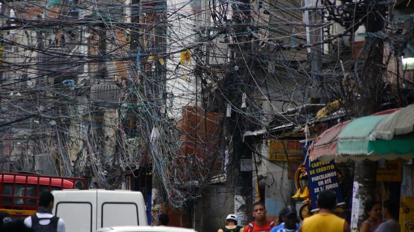 Power lines in Brazil
